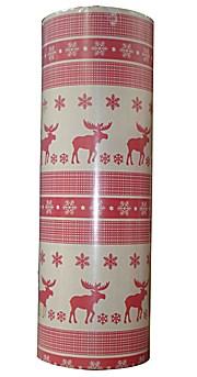 Woerner Geschenkpapier Bodö Rot Rolle 250m x 50cm
