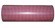 Woerner Geschenkpapier Vichy Muster rosa Rolle 250m x 50cm