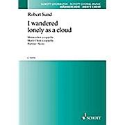 I wandered lonely as a cloud: Männerchor. Chorpartitur. (Schott Chormusik)